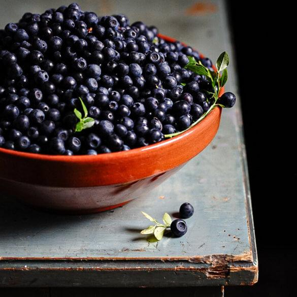 Wild blueberries from Finland