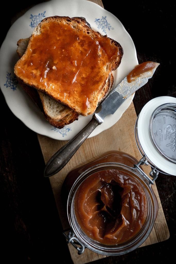 Apple butter cooked in oven