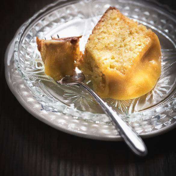 Almond cake with boiled potatos