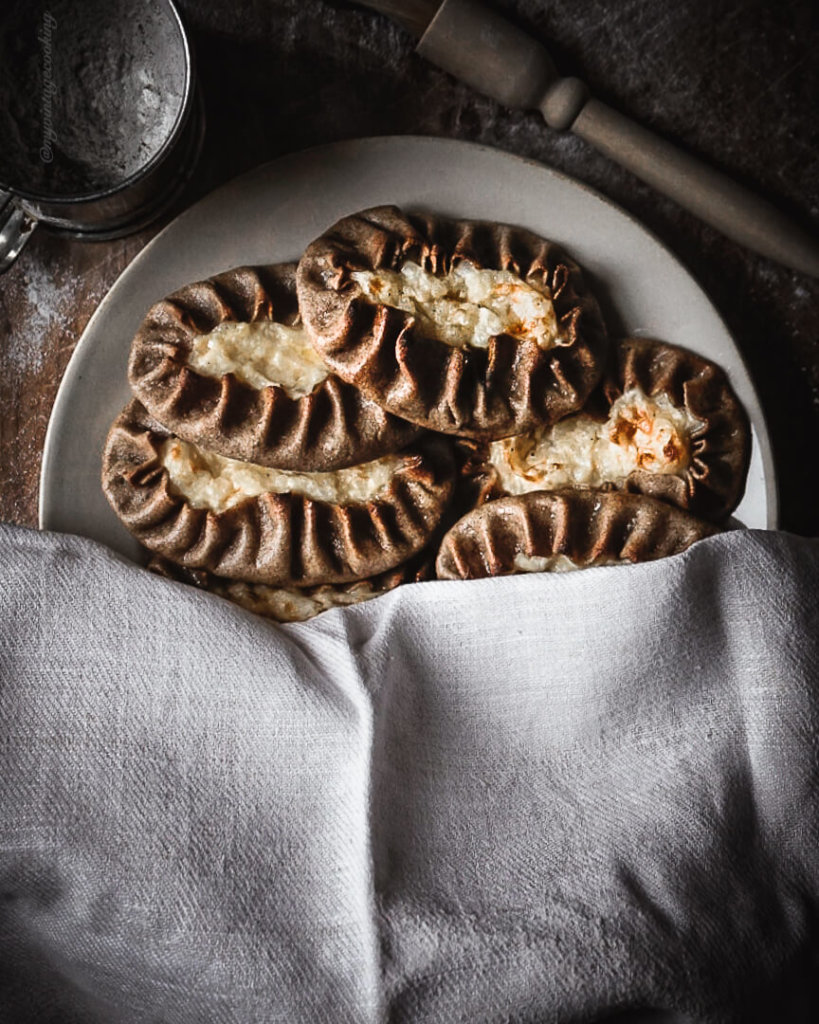 warm homemade karelian pies with rice filling recipe